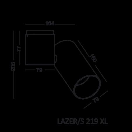 ELKIM Spot LAZER/S 219 XL ceiling LED 9W