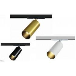 Reflektor TRACK 1F ELKIM LAZER/T 219 czarny, biały, złoty