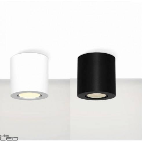 ELKIM  RUND 007   surface lamp white, black