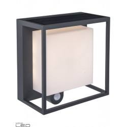 LUTEC CURTIS Outdoor, solar wall lamp with motion sensor
