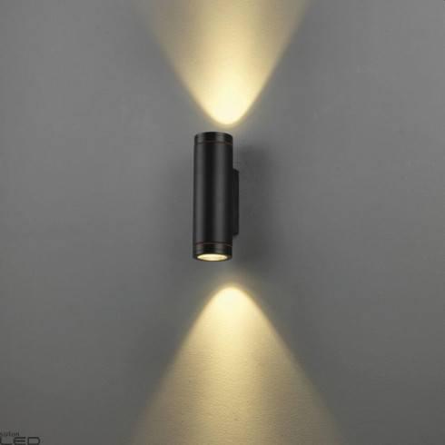 ELKIM WALLY 215/2 GU10 black external wall-light