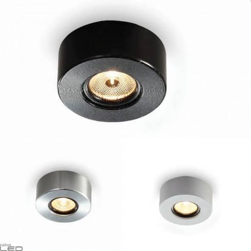 ELKIM POINT 880B oczko stropowe LED 1W alu, białe, czarne
