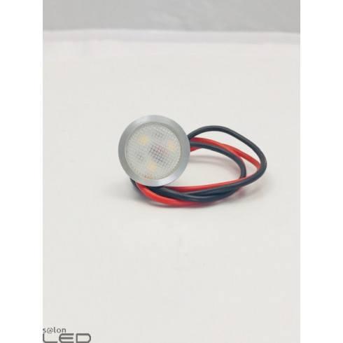 Oczko LEDPOINT 25mm alu, białe, czarne IP54 12V