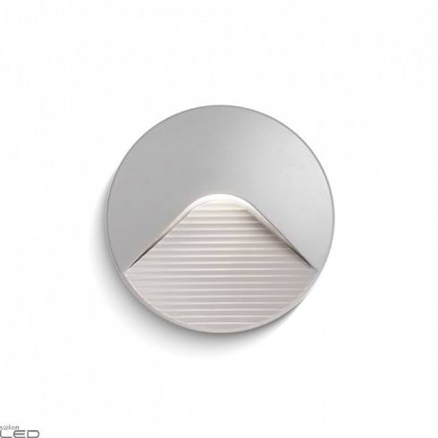 REDLUX Reno R outdoor wall light LED gray, anthracite