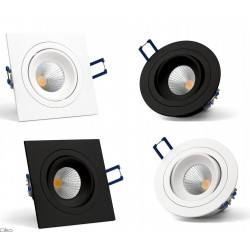 OXYLED MODI SQ/RO recessed LED luminaire 6W/10W