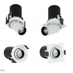 OXYLED DELLE square/round recessed reflector LED 6W