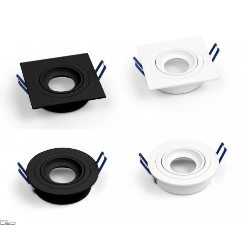 OXYLED Crosti MODI SQ/RO recessed lamp GU10