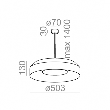 AQFORM MAXI RING dot LED 230V zwieszany 50518 50cm