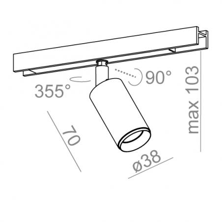 AQFORM PET next mini LED multitrack 16367 magnes