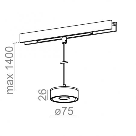 AQFORM QRLED mini LED zwieszany multitrack