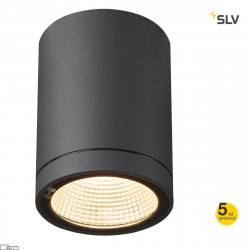 SLV ENOLA round S, M, L 100342 LED anthracite IP65 ceiling outdoor