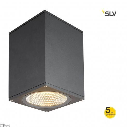 SLV Enola square S, M, L 1003420/1 LED anthracite IP65 3000K/4000K