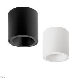 OXYLED PERO RO tube GU10 9cm ceiling lamp white, black