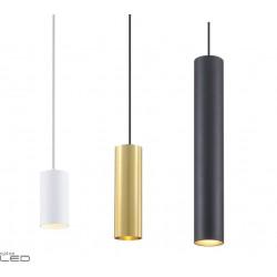 Lampa wisząca ELKIM STALA/Z 010 biała, czarna, złota