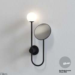 ASTRO ORB Wall lamp with mirror, chrome, black