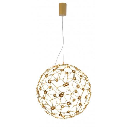 LUCES ALTA LE41321/2/3 złota lampa wisząca LED 40cm, 60cm, 80cm