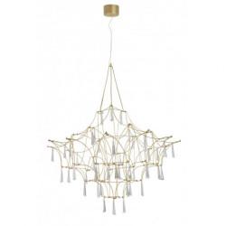 LUCES SALAMANCA LE41324 złoty żyrandol LED 20W z kryształkami