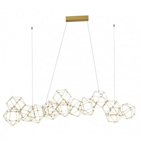 LUCES ASIS LE41326 gold LED pendant lamp 67W length 137cm
