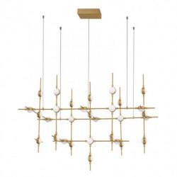 LUCES AZUL LE41330 złota lampa wisząca LED 72W, 3000K, 5040lm