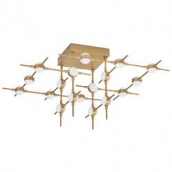 LUCES AZUL LE41336 gold, designer ceiling LED 43W warm white 3K