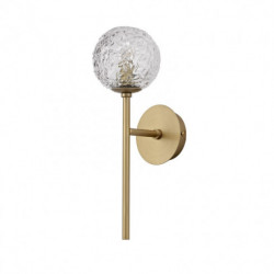LUCES PASTO LE41736 gold wall lamp 1xG9 glass structure