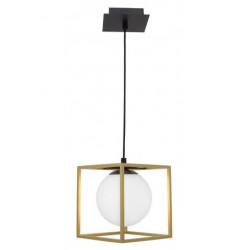 LUCES PLATA LE41786 gold-black pendant lamp square 1xE14