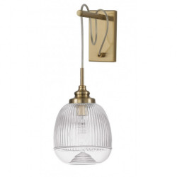 LUCES AHIGAL LE41849 gold wall lamp, glass shade