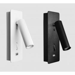 KOHL SIGN K50702.WS wall lamp LED 3W white, black USB