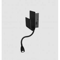 KOHL PIXY K50703 LED 7W+3W wall lamp white, black USB