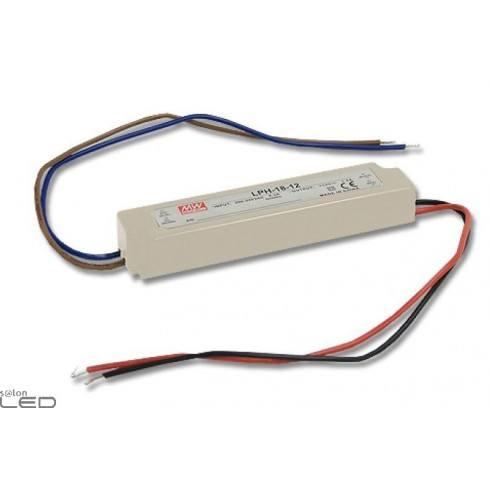 Zasilacz LED MEAN WELL 18W 1,5A LPH-18-12 12V DC WODOODPORNY IP67