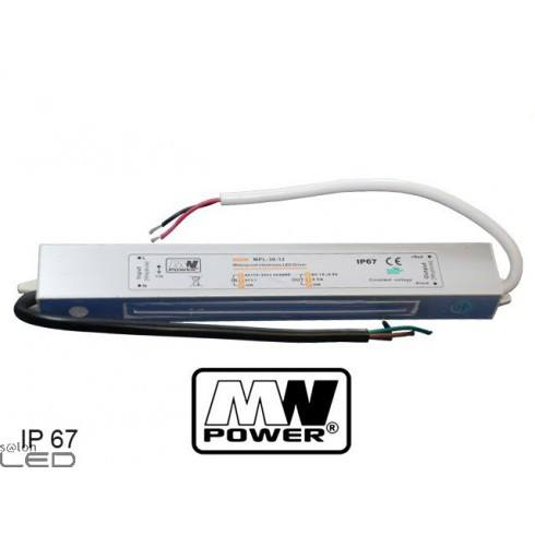 Zasilacz LED MW Power MPL-30-12 30W 2,5A 12V DC WODOODPORNY