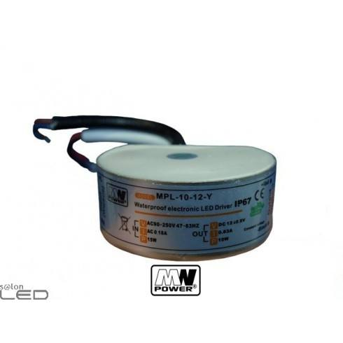 MW Power MPL-10-12-s 0.83 A 10W 12V DC Waterproof  LED Power Supply