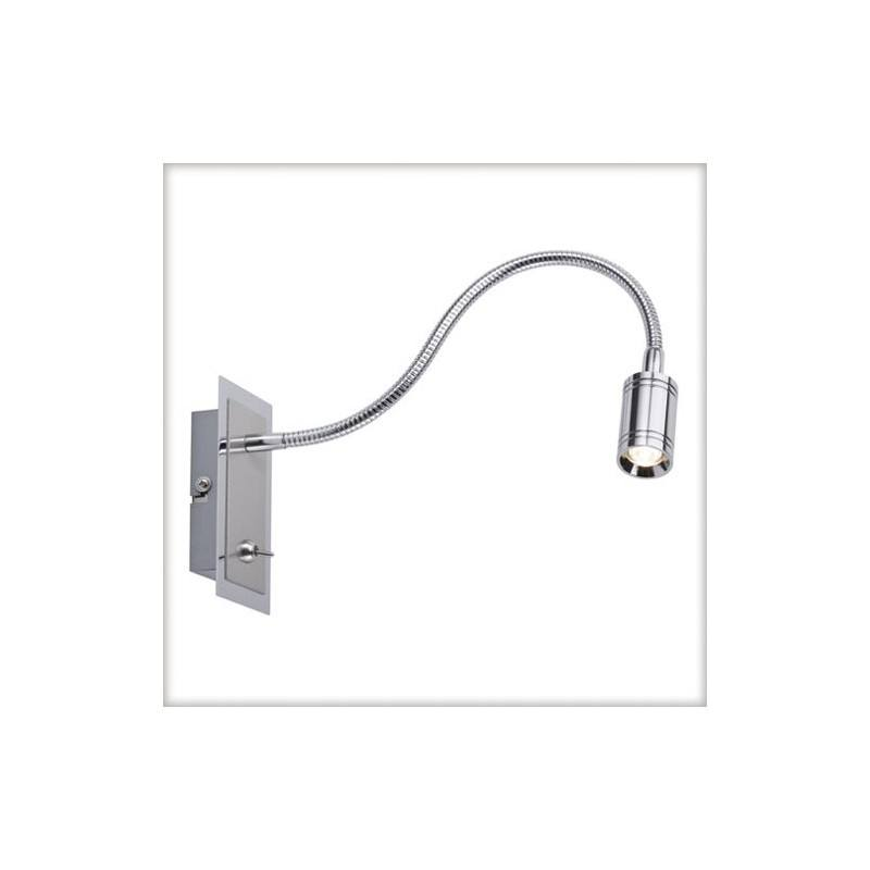 Zylindro Flex LED wall lamp with chrome switch 1x3W Paulman