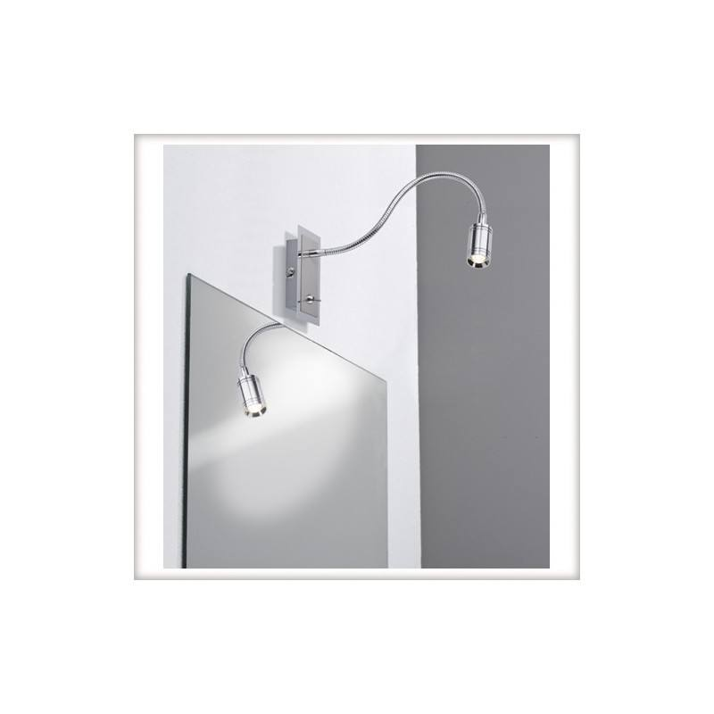 Led Wall Lamp With Switch : Zylindro Flex LED wall lamp with chrome switch 1x3W Paulman