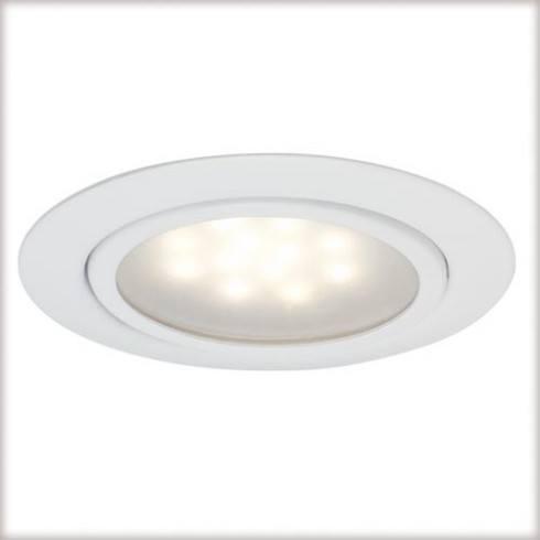 Zestaw opraw meblowych LED 3x1W 12VA 230/12V białe