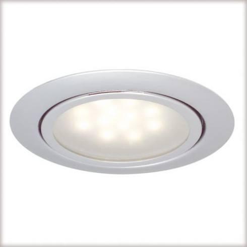 Zestaw opraw meblowych LED 3x1W 12VA 230/12V Chrom