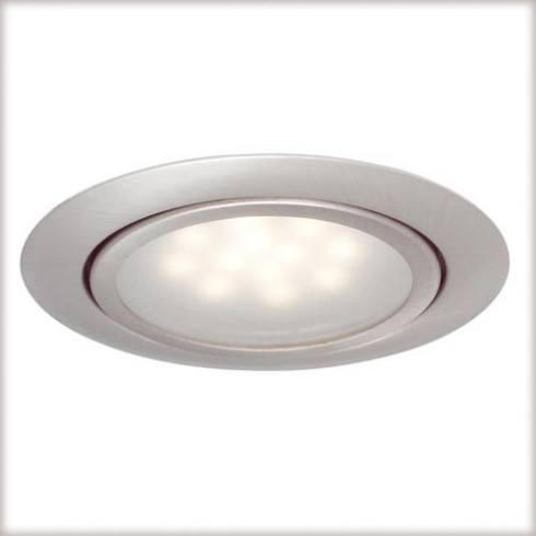 Zestaw opraw meblowych LED 3x1W 12VA żelazo sat.