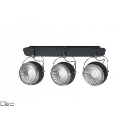 SPOT LIGHT STRIP LED 3x5w BLACK BALL