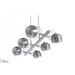 SPOT LIGHT 6X5W LED BALL LAMP SATIN 5009687