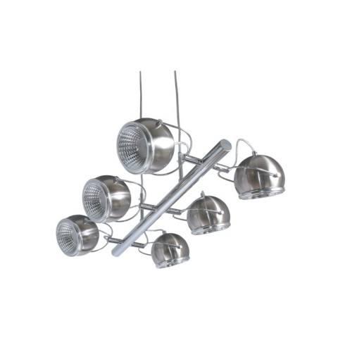 SPOT LIGHT 6X5W LED BALL LAMP SATIN 5009687