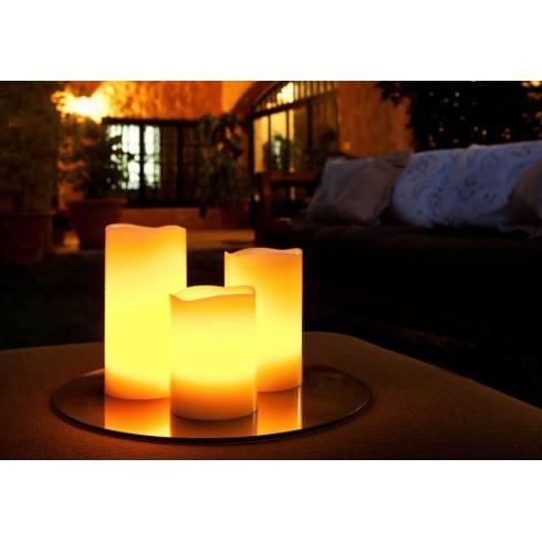 SCHULLER Set of 3 LED candles