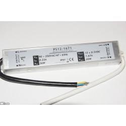 Zasilacz LED PS12-1671 20W 1,67A 12V DC WODOODPORNY