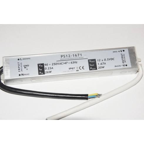 POWER SUPPLY PS12-1671 20W 12V DC 1.67 waterproof