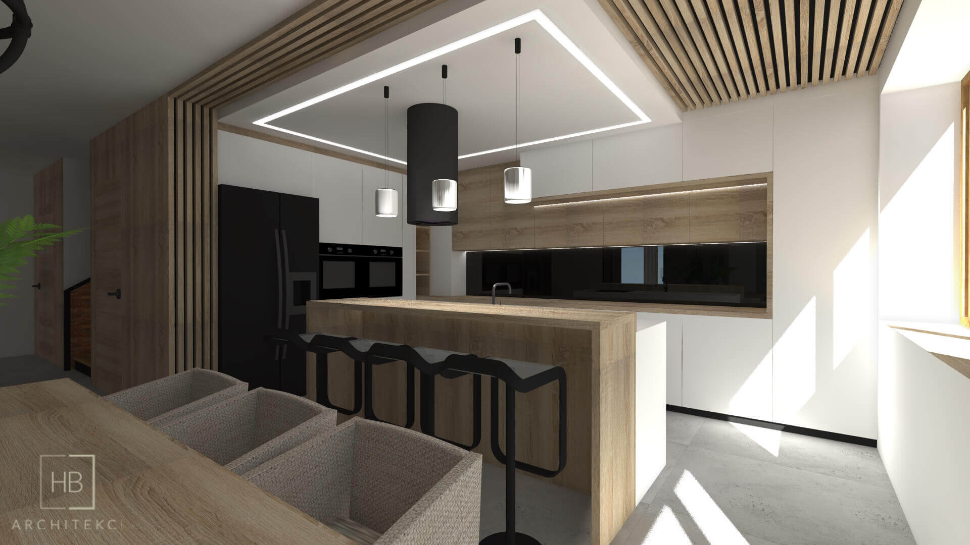 Led profiles in the kitchen