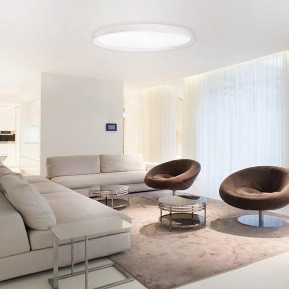 Duża okrągła lampa sufitowa LED do salonu