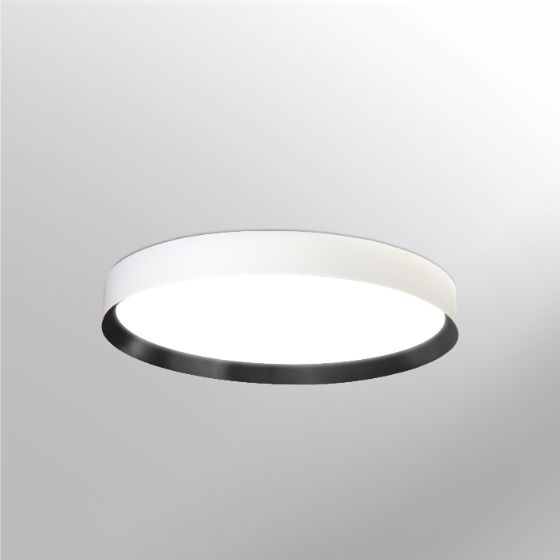 Nowoczesny, okrągły plafon LED do salonu