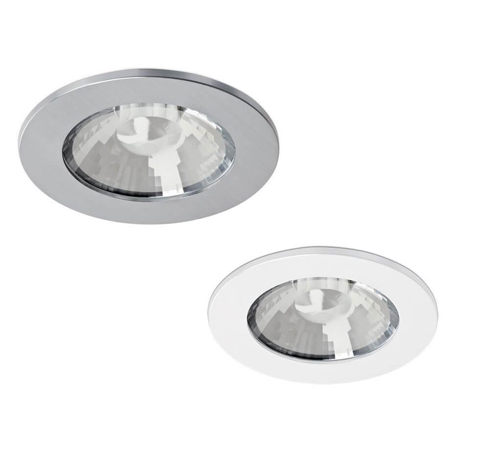 Duża, okrągła oprawa wpuszczana łazienkowa IP65