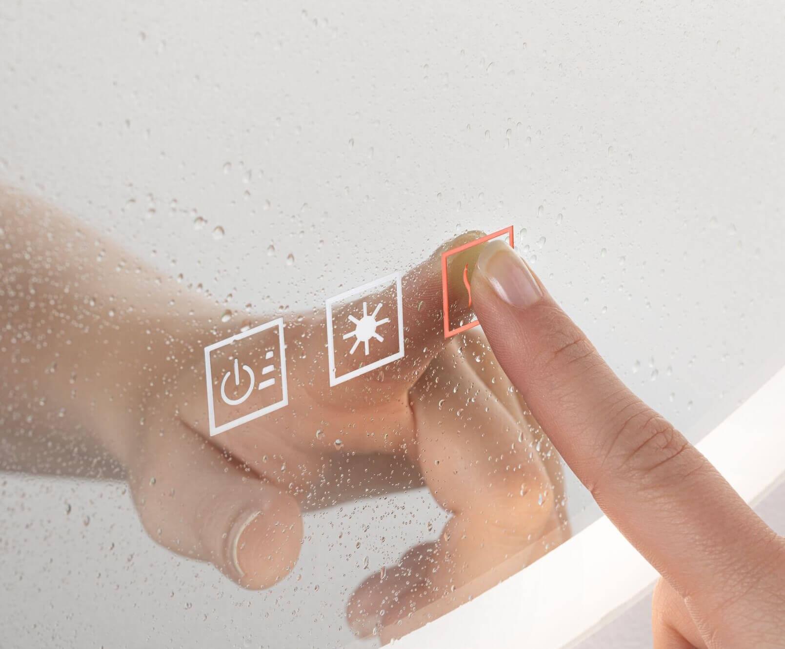 Lustro LED z funkcją podgrzewania