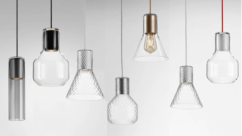 Modern glass lampy aqform
