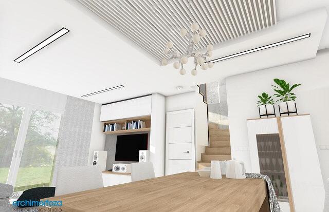 Lampy sufitowe wpuszczane do salonu